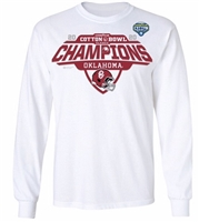 Oklahoma Sooners 2020 Cotton Bowl Champions Locker Room Long Sleeve T-Shirt - White