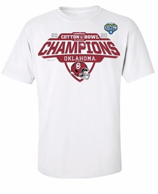 Oklahoma Sooners 2020 Cotton Bowl Champions Locker Room T-Shirt - White