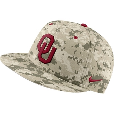 Oklahoma Sooners Authentic Team Issue Digital Camo Flat Bill Hat Fitted
