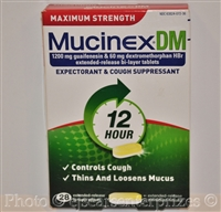 Mucinex DM Maximum Strength 12-Hour Expectorant and Cough Supressant Tablets - 28 Tablets