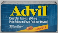 Advil Pain Reliever and Fever Reducer Tablets, 200mg Caplets, 100 count