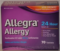 Allegra 24 Hour Allergy Tablets - 70 Ct