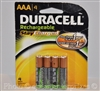 Duracell Rechargeable AAA Stay Charged NiMH Batteries
