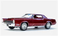 1968 Cadillac Fleetwood Eldorado Tribute Edition in San Mateo Red Iridescent 1:24