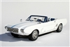 1963 Ford Mustang II Concept 1:24 Automodello with Removable Hardtop in White with Blue Stripe