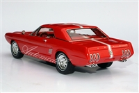 1963 Ford Mustang II Concept Tribute Edition Red 1:24 Automodello with Removable Hardtop in White with Blue Stripe