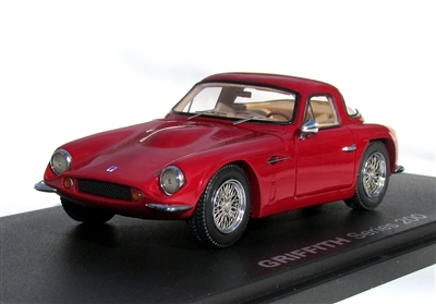 1964 Griffith Series 200 Dark Red and Hand-Signed by Jack Griffith 1:43 OnlyONE