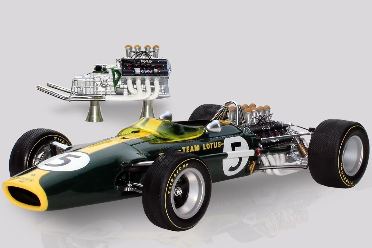 Lotus 49 Jim Clark & Ford 3-Litre Twin Cam DFV Set 1:12