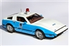 1974 Bricklin SV1 Standard Edition for Scottsdale Police Team 2 in White over Blue 1:43 Tribute Edition hand-signed by Malcolm Bricklin
