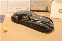 "1939 Duesenberg Coupe Simone ""Midnight Ghost"" Black Grey 1:24 Franklin Mint