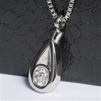 Extra Large Teardrop With CZ