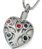 Tree Of Life Heart With Multicolored Stones