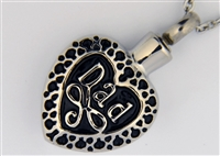 Black And Silver Dad Heart