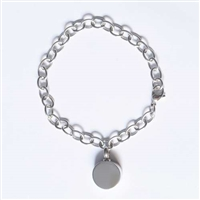 Link Bracelet With Round Pendant