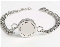 """Keep You In My Heart Always"" Cremation Bracelet"