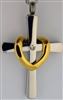 Large Men's Cross With Gold Drape