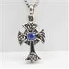 Cross With Blue Center Stone