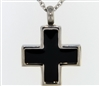 Short and Simple Black and Silver Cross