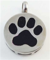 Round With Black Paw Print