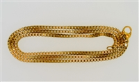 Gold-Plated Stainless Steel Box Chain