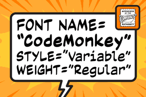 Code Monkey Variable font