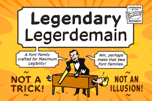 Legendary Legerdemain font