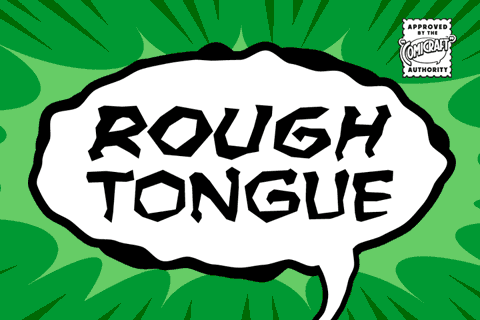Rough Tongue font