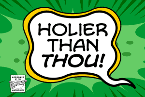 Holier Than Thou font