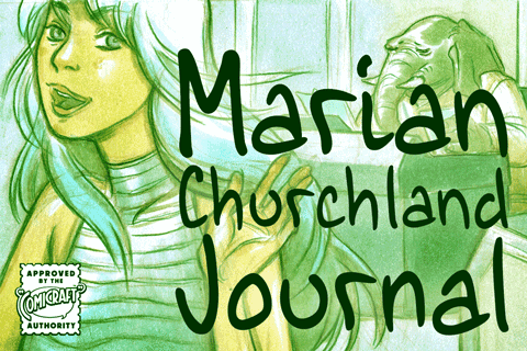 Marian Churchland Journal font