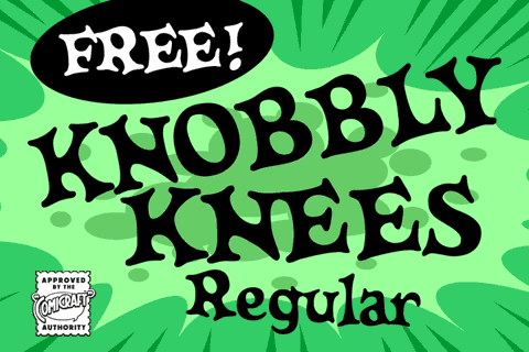Knobbly Knees Regular font