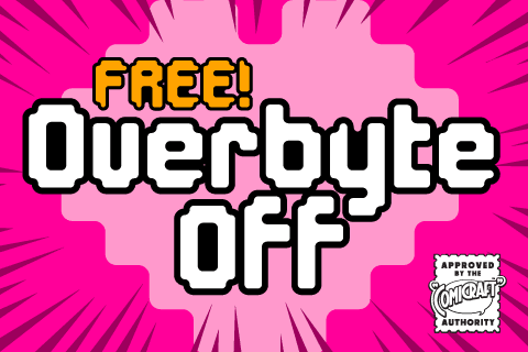 Overbyte Off Free font