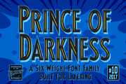 Prince of Darkness font