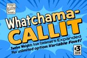 Whatchamacallit font