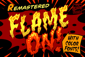 Flame On font