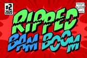 Ripped Bam Boom font