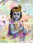"11-046 Baby Krishna- 11"" x 14"" Ready to Frame Photograph"