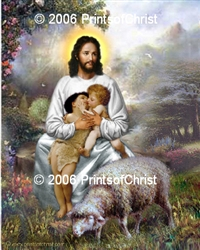 8-138  Jesus With Children - 8 x 10 Ready to Frame Photograph