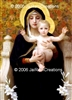 "8-017 Mother Mary With Baby Jesus - 8"" x 10"" Ready to Frame Photograph"