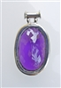 faceted oval amethyst astrological pendant
