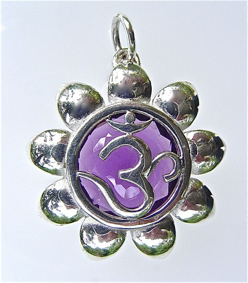 Pendant with large amethyst in sterling silver alternative views aloadofball Images