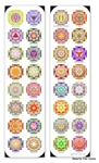 BMK-04 16 Yantra Set Bookmark
