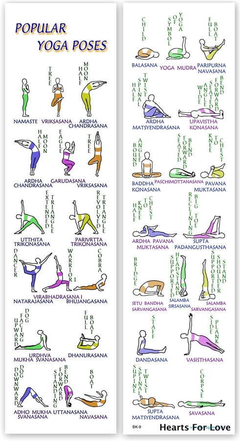 BMK 09 Popular Yoga Poses Bookmark