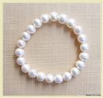 ZPB-01 - White Pearl 8mm Bracelet