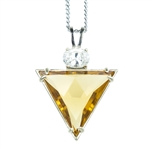 CIP-TRI Pure Triangle Citrine Pendant Design
