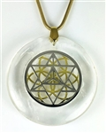 Natural Quartz Sacred Geometry Stone Pendants