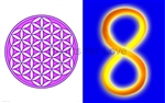 CS-43 Flower of Life (purple) / Infinity Symbol