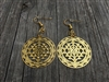 ER-03 SRI YANTRA DETAILED EARRINGS GOLD PLATED