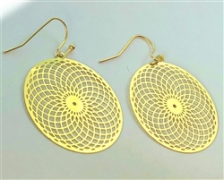 ER-04 Torus Vortex 18k Gold Plated 30mm Earrings