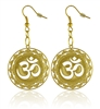 Om Mandala 18K Gold Plated Earrings