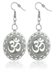 Om Mandala Silver Plated Earrings